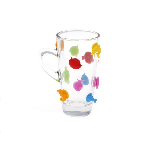 12 pz / set Silicone Etichetta Gomma Vino Bicchieri Ricognitore Partito Dedicato Pesce Ventosa Bicchiere Segnalatore di Vetro Favore di Partito