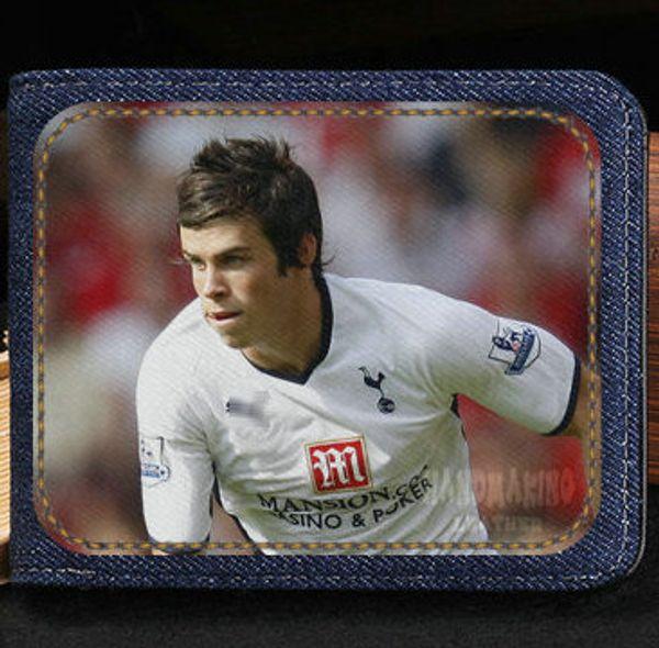 Gareth Bale wallet Football athlete cartoon purse Soccer sport short cash note case Money notecase Leather burse bag Card holders