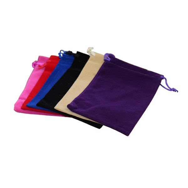 5 x 7 cm Fashion Jewelry Pouches Bags Velvet Drawstring Bags for Rings Necklace Wedding Gift DIY Packaging Jewel Case