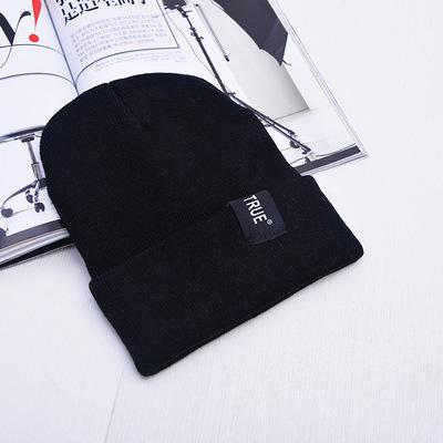 b5718305c5e Free Shipping 2017 new autumn and winter letters hat men and women fashion  simple knit hat