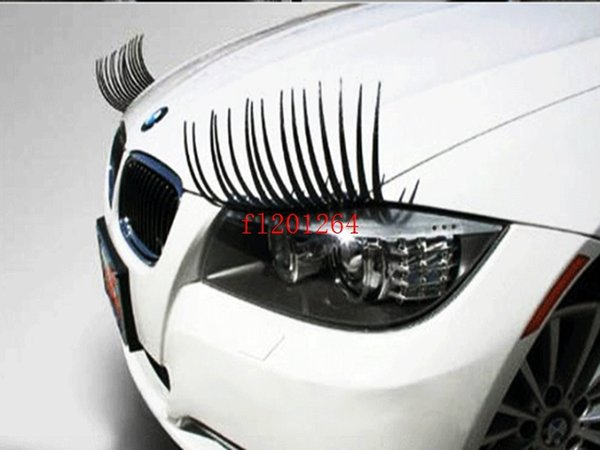 top popular Fedex DHL Free Shipping 100pairs=200pcs Wholesale high quality charming eyelash stickers stick for cars black color 2020