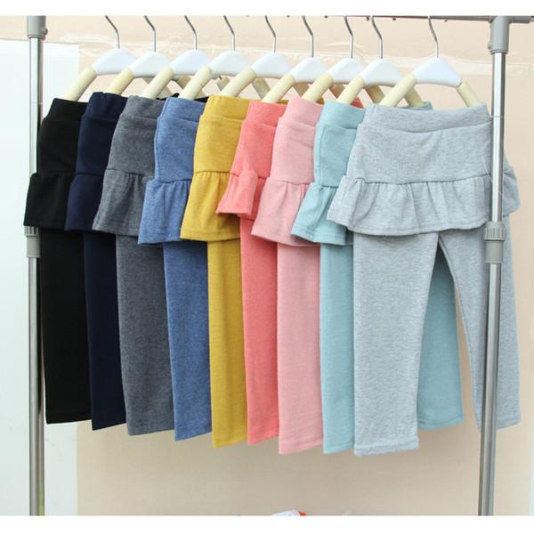 best selling Hot Spring and Fall Sweet Style Cute leggings skirt pants girls baby girl legging pantskirt slim stretch leggings trousers tutu skirt pants