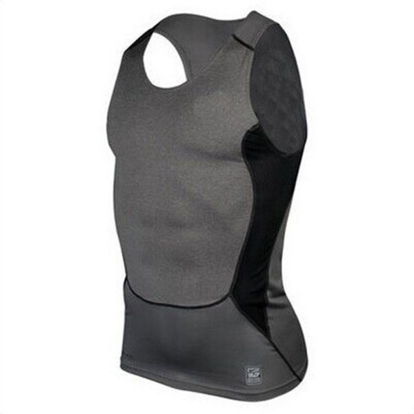 Wholesale-Men Compression Tight T-Shirt Base Layer Fitness Gym Workout Vest Tank Tops S-XXL Hot