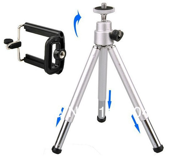 Hot Sale Mini Tripod + Stand Holder for Mobile Cell Phone Camera Phone 4 4g 5 5G Samsung galaxy S2 S4 i9200 I9500