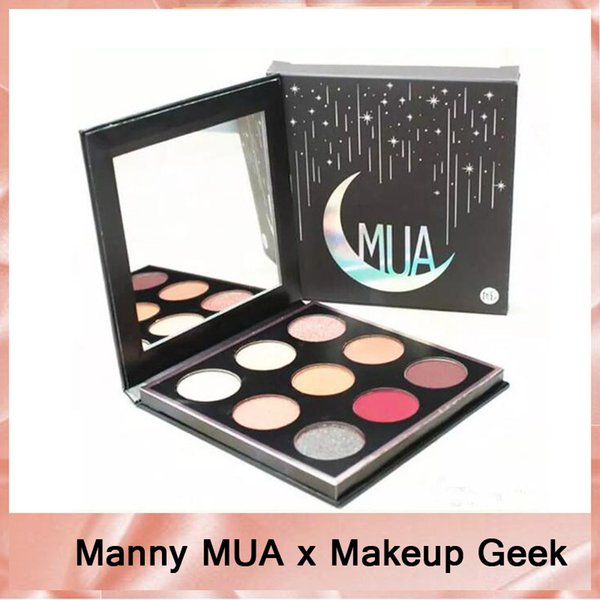 NEW Manny MUA x Makeup Geek Eyeshadow Palette LE BNIB eyeshadow Powder Manny Eyeshadow Kit 9 Colors MUA Eye Shadow Palette DHL free-2