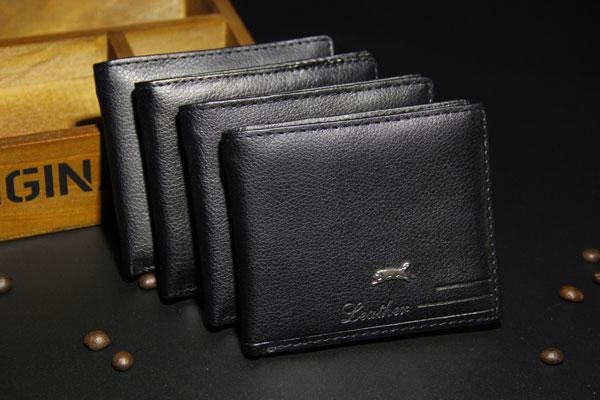 best selling Cheap New PU Leather Men Wallets Purse & Bifold Brand Wallet Retro Design Style Purse For Men 2016 New Hot