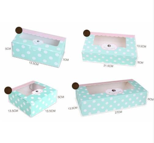 Light Green paper Cookie cake Packaging Box with plastic pvc window for Candy Biscuit Chocolate Paper Carton cardboard gift box