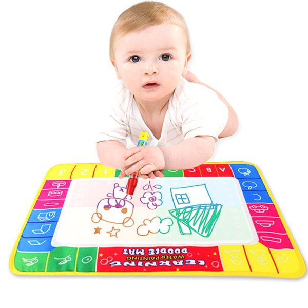 best selling 29x19cm Baby Kids Water Drawing Painting Writing Mat Board with Magic Pen Doodle Gift Christmas