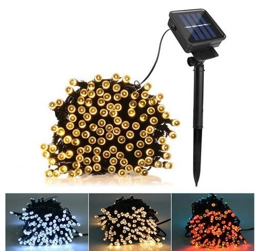 Solar Lamps LED String Lights 100/200 LEDS Outdoor Fairy Holiday Christmas Party Garlands Solar Lawn Garden Lights Waterproof LLFA