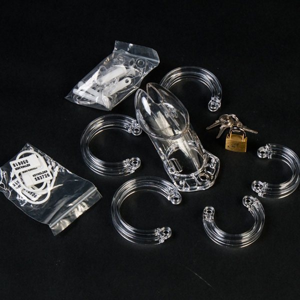 10cm Male Chastity Device,Medical Plastic 6000 cock Cage,penis ring,cock sleeve,dick lock,Sex Products for men penis,chastity belt