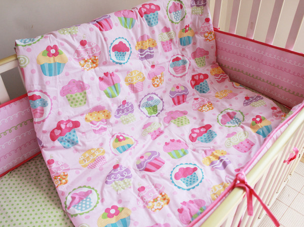 High Quality Children Bed Bedding Around Set 100% Cotton Crib Sets,Soft Comfortable 7 Pcs Baby Bedding Set Unpick