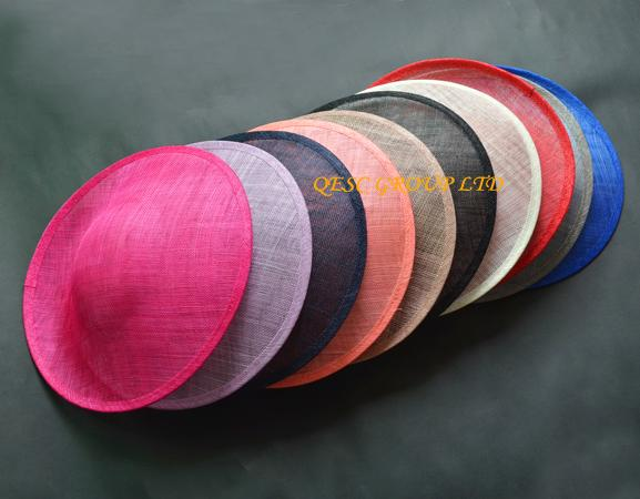 best selling High quality sinamay binding large saucer sinamay base fascinator hat craft supply,for derby,Races,Party,wedding,diameter 33cm.