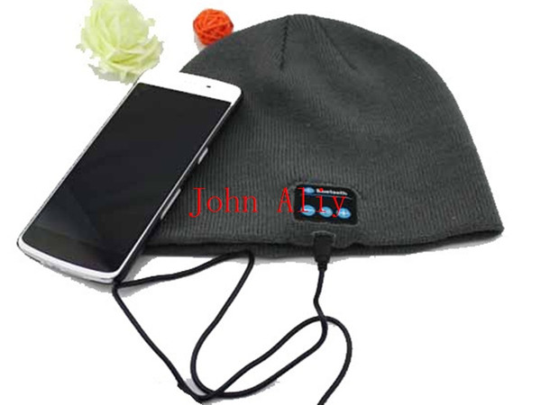 Wholesale Bluetooth Beanie Knitted Winter Hat headset Hands-free Music Mp3 Speaker Mic Cap Magic Sport Hats for Boy/Girl/Adults