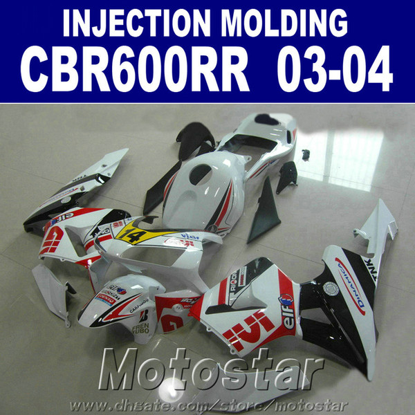 7Gifts ABS plastic for HONDA CBR 600RR fairing 2003 2004 Injection Molding 03 04 cbr600rr custom fairing OCW3