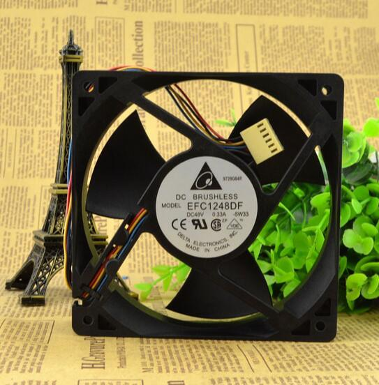 Original DELTA 120*120*32 48V 0.33A EFC1248DF 12 cm four wire fan