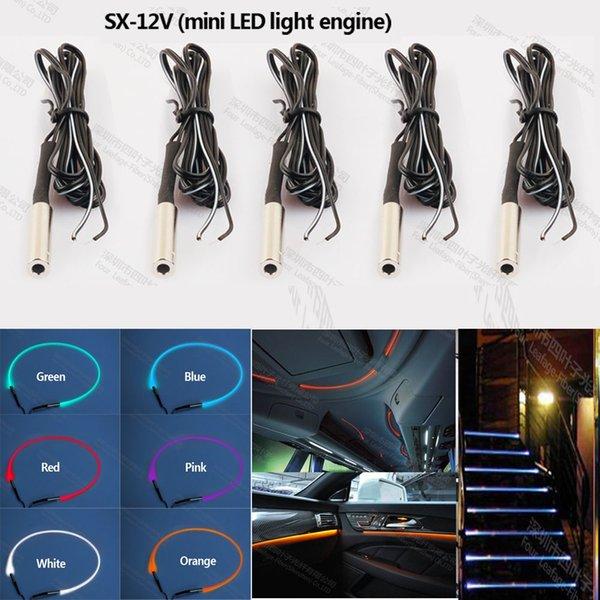 12v mini led optique fibre optique source de lumière moteur de lumière pour allumer le projecteur de l'étape d'escalier de cinéma intérieur de voiture