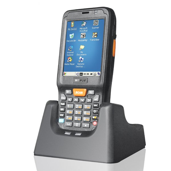 best selling Wholesale- Windows CE 6.0 Portable Scanner Terminal With 13.56MHz HF RFID Wifi Bluetooth WCDMA 1D Scanner