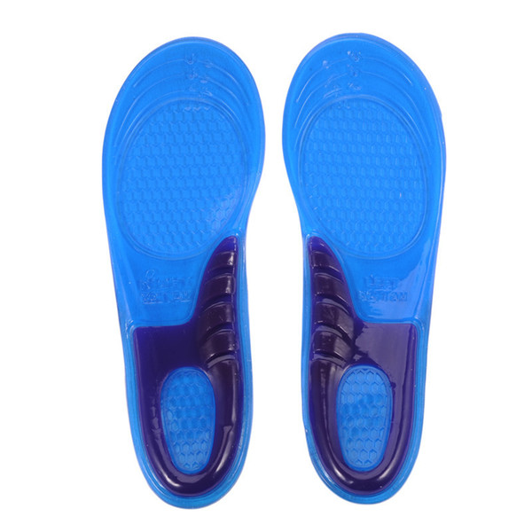 top popular Thick Silicone High - elastic Insoles Basketball Running Insole Sport Shoe Pad Orthotic Insole for Man and Woman wholesale 2021