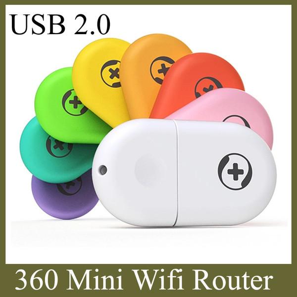 360 Mini Wifi Yönlendirici Taşınabilir Çin Marka USB 2.0 Dahili Anten Dizüstü Dizüstü Cep Telefonu Tablet PC Ücretsiz Kargo OTH115