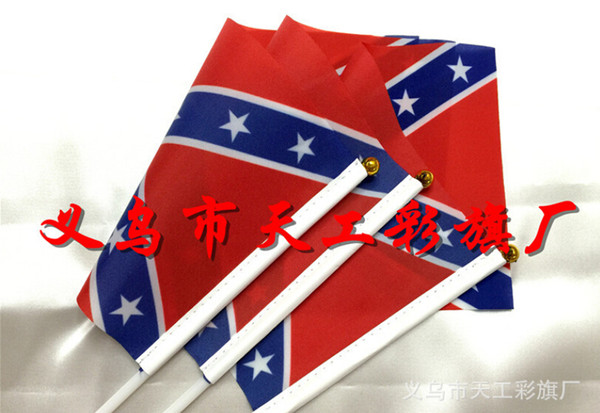 top popular Printed Flag Confederate Rebel Civil War Flag National Polyester Flag Confederate Battle Flags Two Sides Printed Flag 14X21CM 150X90CM 2019