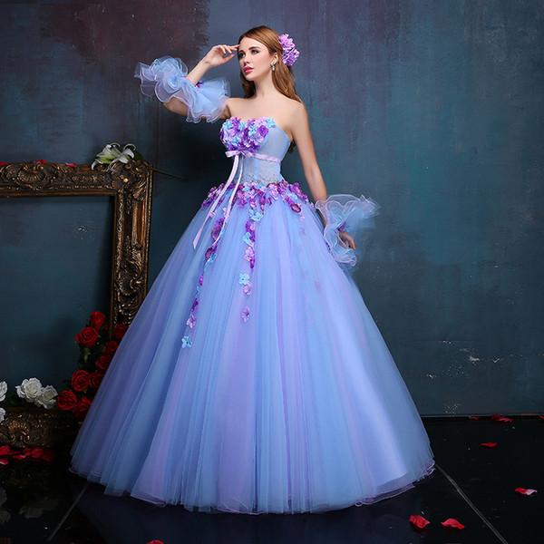 Flores de lujo 100% reales Vestido renacentista medieval Vestido de princesa Sissi Traje victoriano gótico / María Antonieta / Colonial Belle Ball