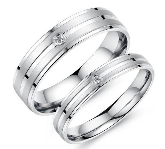 Titanium Aaa Cz Wedding Bands Couple Rings Korean Jewelry Lovers His And Hers Promise Ring Sets For Men And Women Vintage Wedding Rings Gold