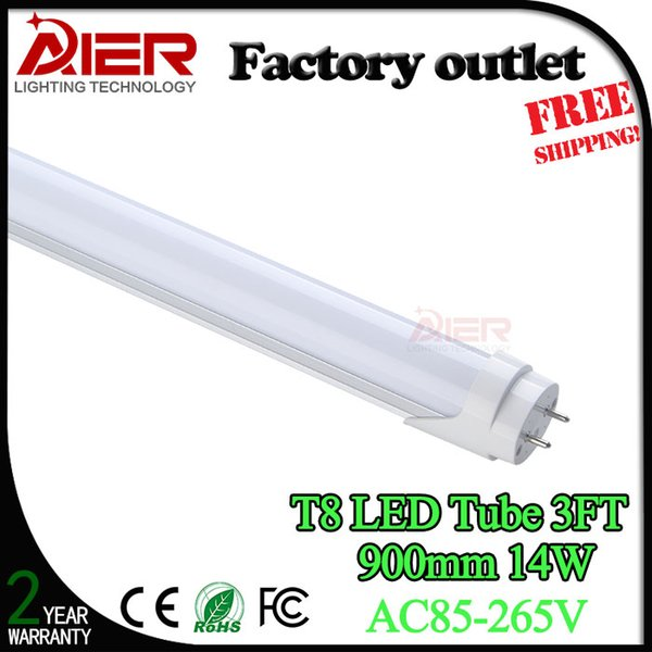 Factory Price 3ft 900mm Led Tube Light 14watt High Quality With Ce Rohs Approved Best Led Tube Manufacturer T8 Tube T8 Fluorescent Tube From