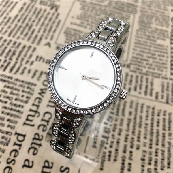 A pcs/lot New Fashion Style Women Watch Lady silver Diamond wristwatch Special Bracelet Luxury Fashion High Quality Jewelry Buckle Free box