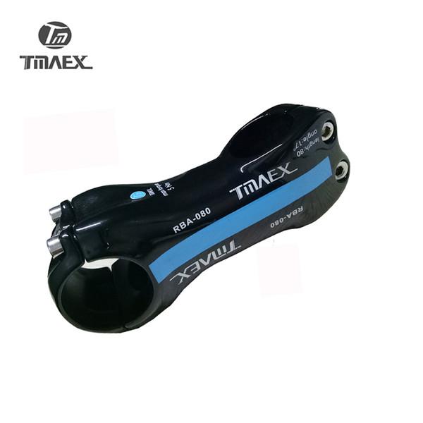 Carbon Stem Fahrrad Stem Road MTB Fahrrad Vorbauten TMAEX 080 Fahrradständer 6/17 Grad Blue Gloss 80/90/100/110 / 120mm