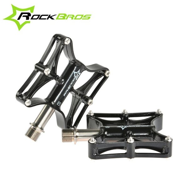"ROCKBROS Bike Bicycle MTB Magnesium Pedals Platform CNC Steel/Tintanium Axle 9/16"" Cycling Pedals Riding Ultralight Pedals"