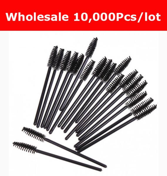 Prix pas cher 10,000pcs / lot NOUVELLE vente noire brosse à cils jetable Mascara Baguettes Applicateur Maquillage Outil de cosmétique