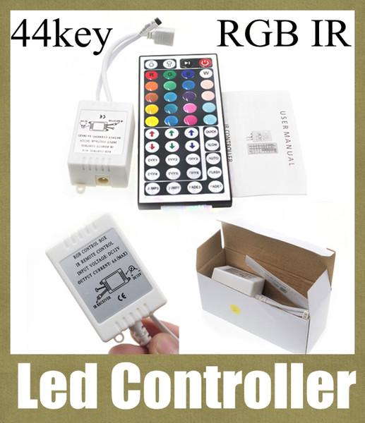 Control remoto de infrarrojos interruptor de luz mini controlador led programable caja de control rgb inalámbrico 44 teclas led tira control remoto barra de luz led DT002