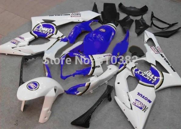 Kit kit per motocicli 2015 per SUZUKI GSXR 1000 05 06 GSX-R GSXR 1000 K5 2005 2006 LUCKY STRIKE parti trim trim blu