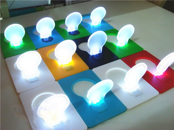 top popular LED Card Mini Wallet Pocket Credit Card Size Portable LED Night Light Lamp Bulbs Camping Hiking Outdoor 2019