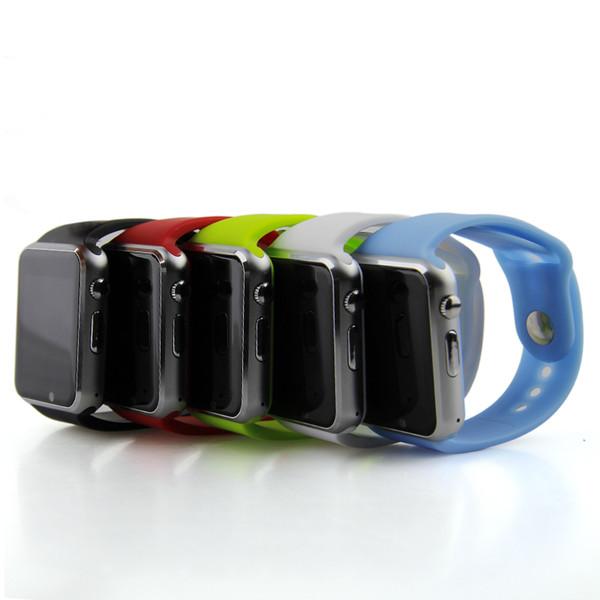 2018 A1 smartwatch Relojes inteligentes Bluetooth Wearable Hombres Mujeres Reloj inteligente Móvil con cámara para Android Teléfono inteligente Reloj con cámara