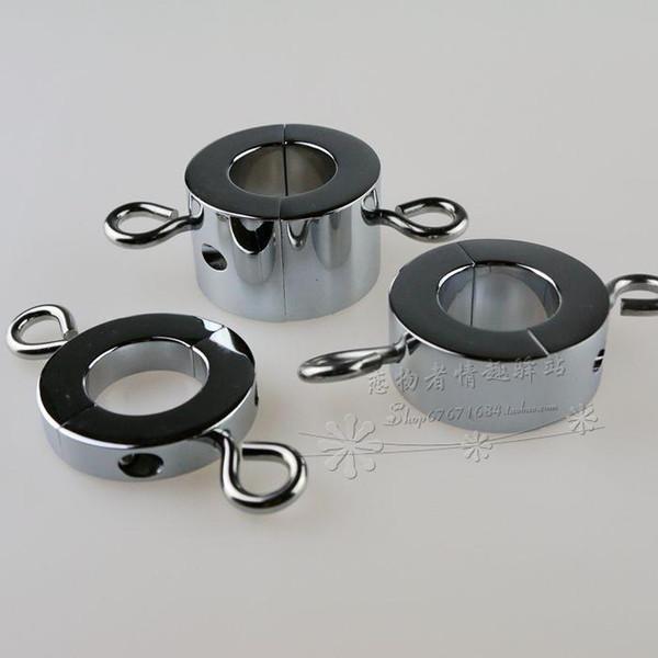 Barelle metalliche a sfera Scroto Ciondolo Testicolo Peso Restraint Anello di sicurezza Dimensione media