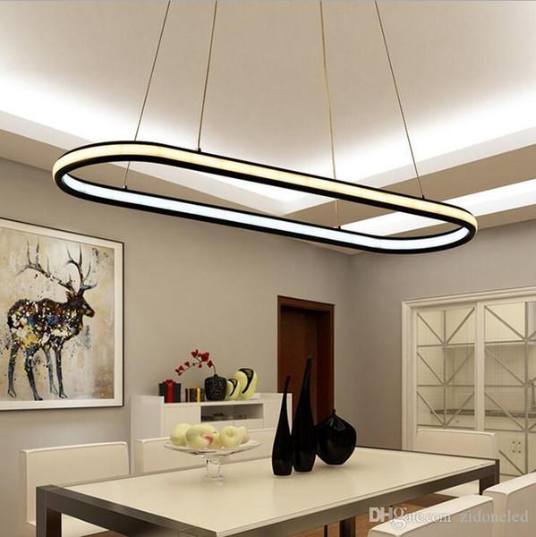 double glow hanging light aluminum modern led chandeliers led pendant lighting fixtures living dining kitchen room high brightness