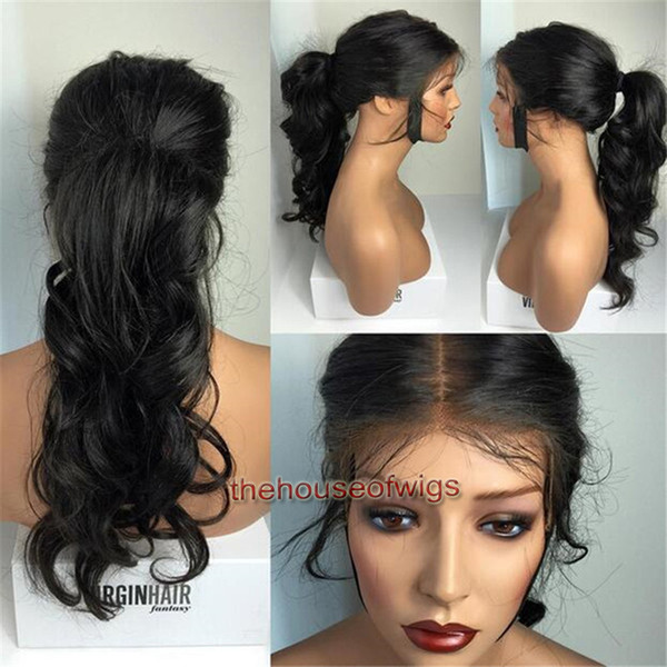 9A Silk top Full Lace Human Hair Wigs For Black Women Brazilian Silk Top Wavy Glueless Lace Front Wigs Human Hair