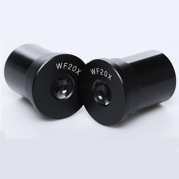 Freeshipping 1 PAIR with Reticle WF20X/10mm Biological Microscope eyepieces Wide angle Lenses Mounting size 23.2mm