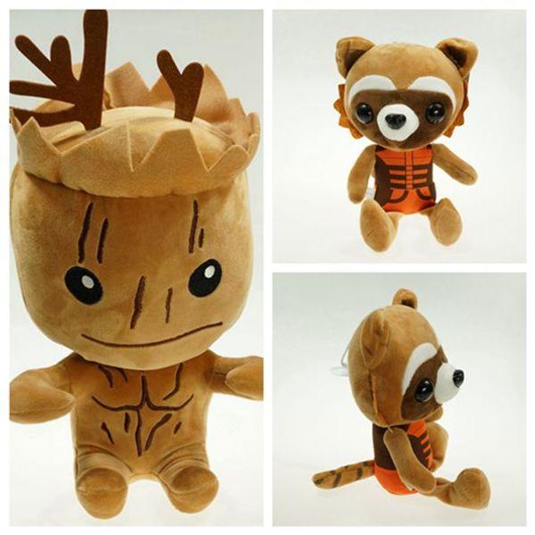 2015 Guardians of the Galaxy Plush Stuff Toy Plush Doll Tree people groot rocket raccoon 20cm Stuffed Toys Figure For Boy Baby