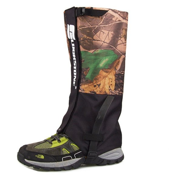 Wholesale- LumiParty Waterproof Leg Gaiters Double Layer Hunting Walking Climbing Legging Snow Gaiters Camouflage 1 pair travel kits
