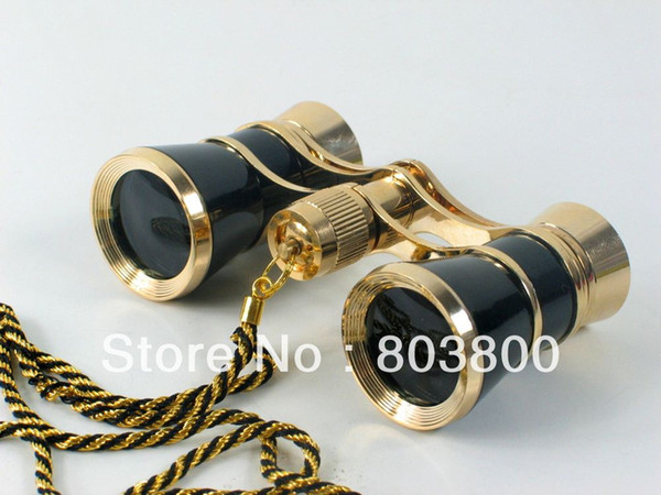 Black 3x25 glasses coated binocular telescope theater opera glass