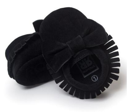 92 colors NEW Styles Baby Soft Tassel Moccasins Girls Bow Moccs Baby Booties Shoes Moccasin Red bow design baby girl shoes Black colors