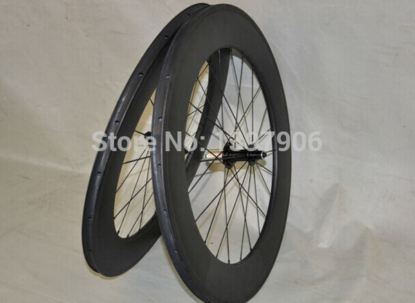 road bikes carbon wheelset 700c 88mm factory OEM carbon clincher wheels for road bicycle novatec hubs 271/372 25mm wide road bike
