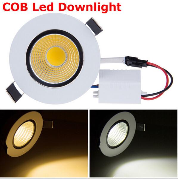 Dimmable cob led ceiling light 3w cob led down light Warm / pure White 2700k 110v 220v CE&ROHS Free shipping