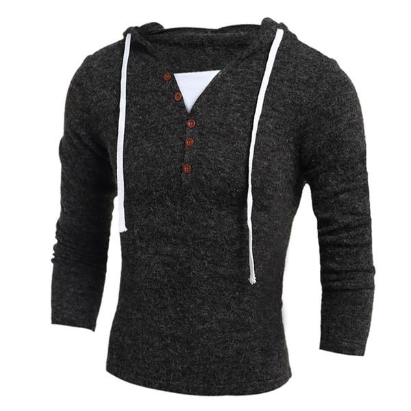 Free shipping new Fashion sweater jacket hedging Slim men T shirts gray sweater hot Men's Clothing