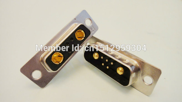 High Power Solder Connector 7w2 Female &Male D-Sub Combo Connector Long weldingline Currenting Rating=30A