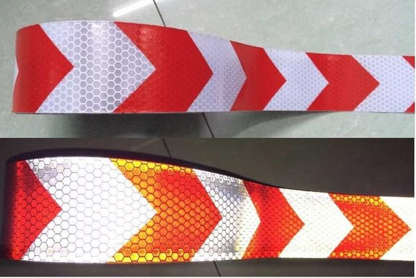 best selling 5cm*25M reflective tape arrow guide sign Reflective adhesive tape,Reflective tape sticker for Truck,Car,Motorcycle