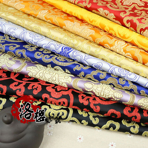 best selling Ancient Chinese Clothing Hanfu Baby Clothes Kimono Silk Cloth Advanced Fabric Brocade Rich flowers Series by the metre