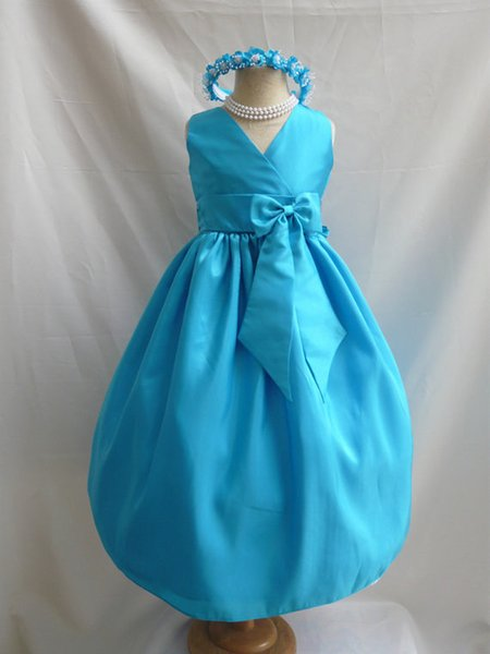 Flower Girl Dresses - TURQUOISE (FD0VN) - Wedding Easter Junior Bridesmaid - For Children Toddler Kids Teen Girls